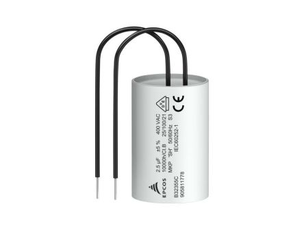 EPCOS 2.5μF Polypropylene Capacitor PP 400V ac ±5% Tolerance Through Hole B32355C Series (231)