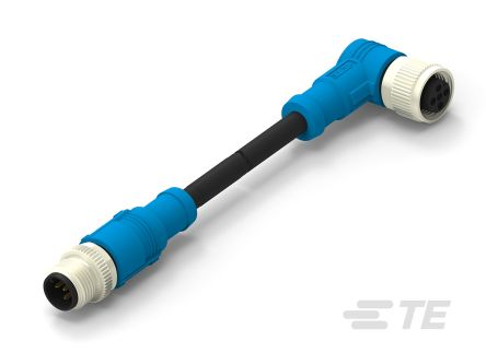 TE Connectivity Circular Connector, 5 contacts Cable Mount M12 x M12 Plug and Socket, Crimp IP67