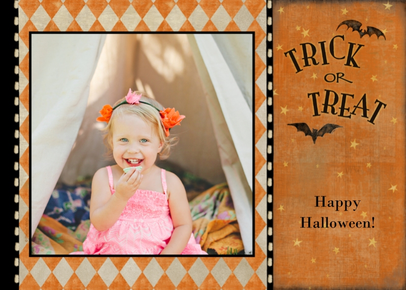 Halloween Photo Cards Mail-for-Me Premium 5x7 Folded Card , Card & Stationery -Trick or Treat