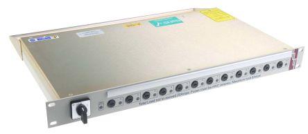 RS PRO IEC C13 12 Gang Power Distribution Unit, 20 A, 250 V, Fused