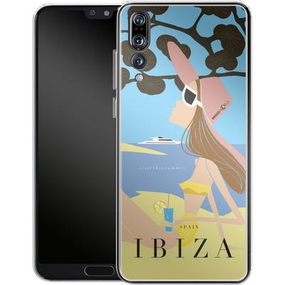 Huawei P20 Pro Silikon Handyhuelle - IBIZA TRAVEL POSTER von IRMA