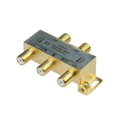 Premium 4-Way Coaxial Cable Splitter, F Type Screw, 5~2400 MHz - Monoprice®