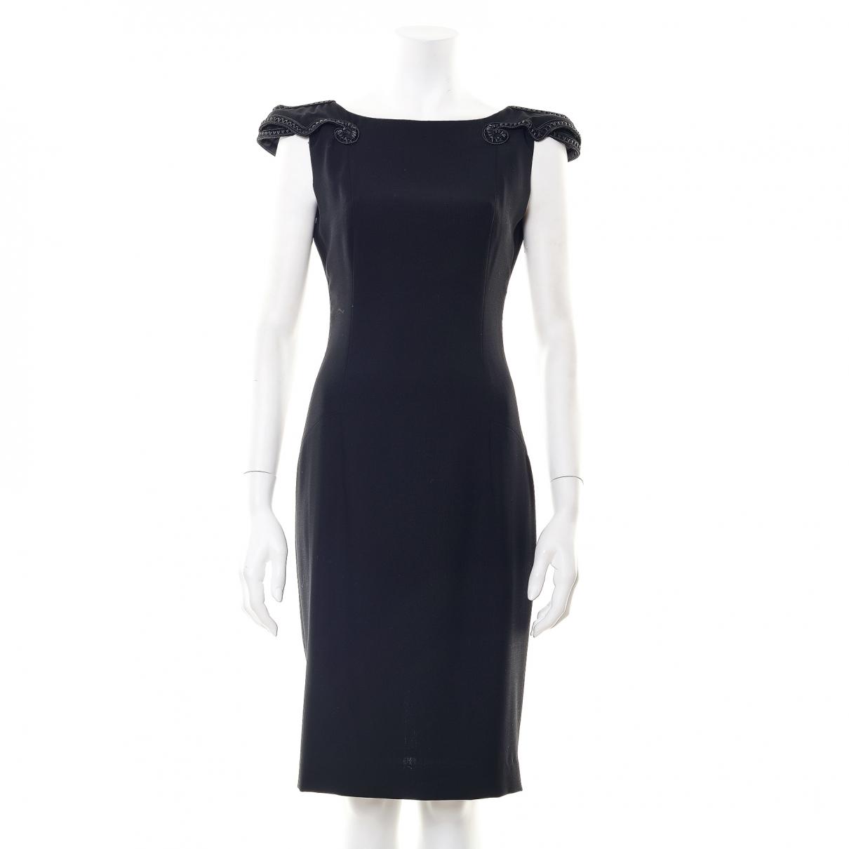 Lwren Scott \N Kleid in  Schwarz Wolle