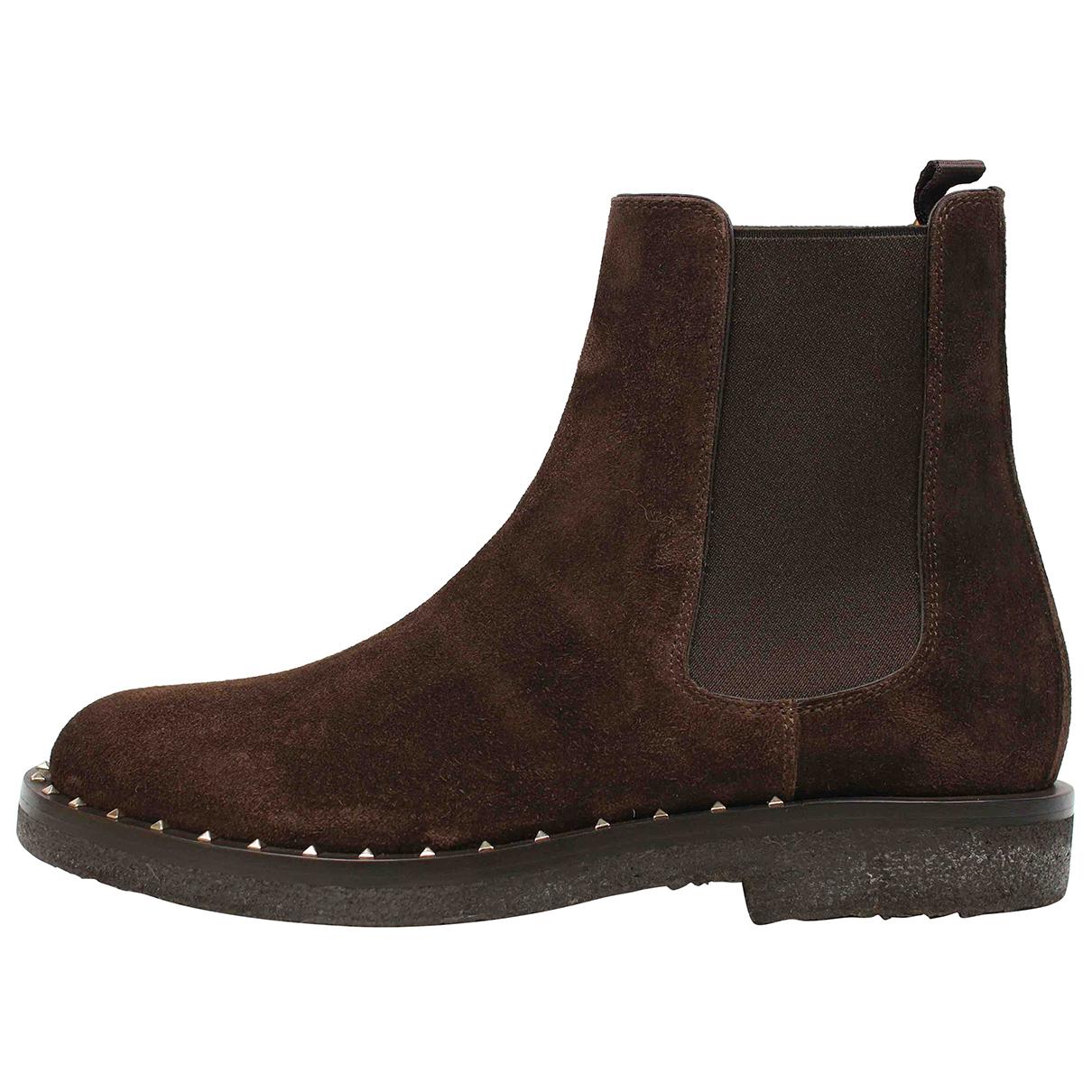 Valentino Garavani N Brown Suede Boots for Men 42 EU