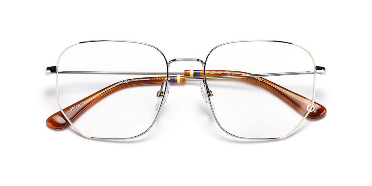 Etnia Barcelona Texas SLHV Women's Glasses Silver Size 55 - Free Lenses - HSA/FSA Insurance - Blue Light Block Available
