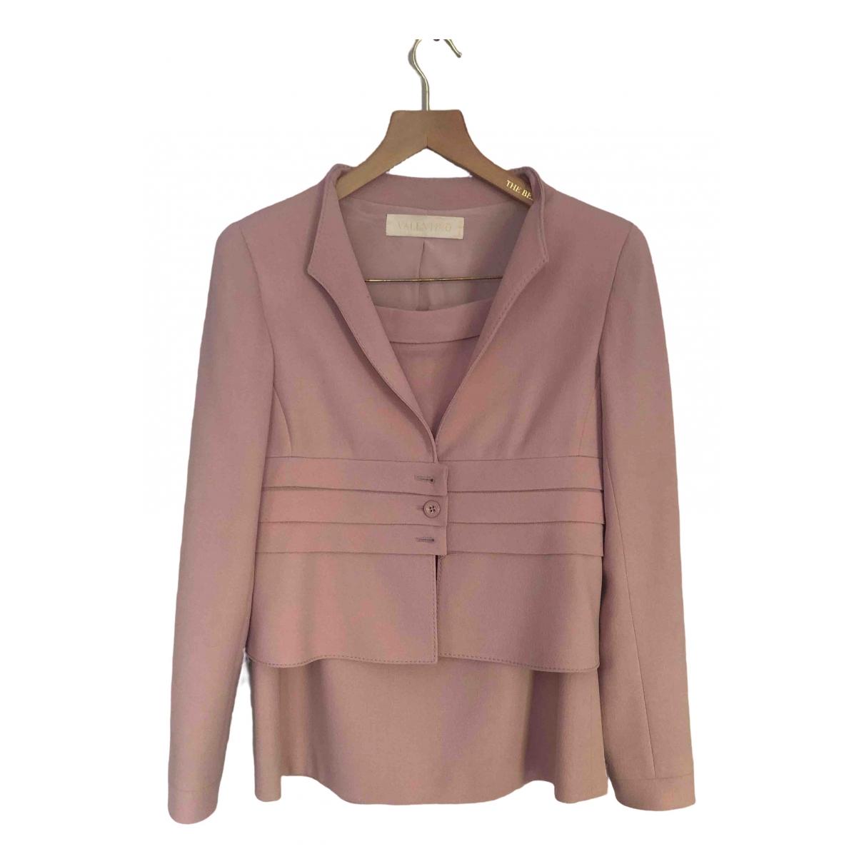 Valentino Garavani \N Pink Wool jacket for Women 40 IT
