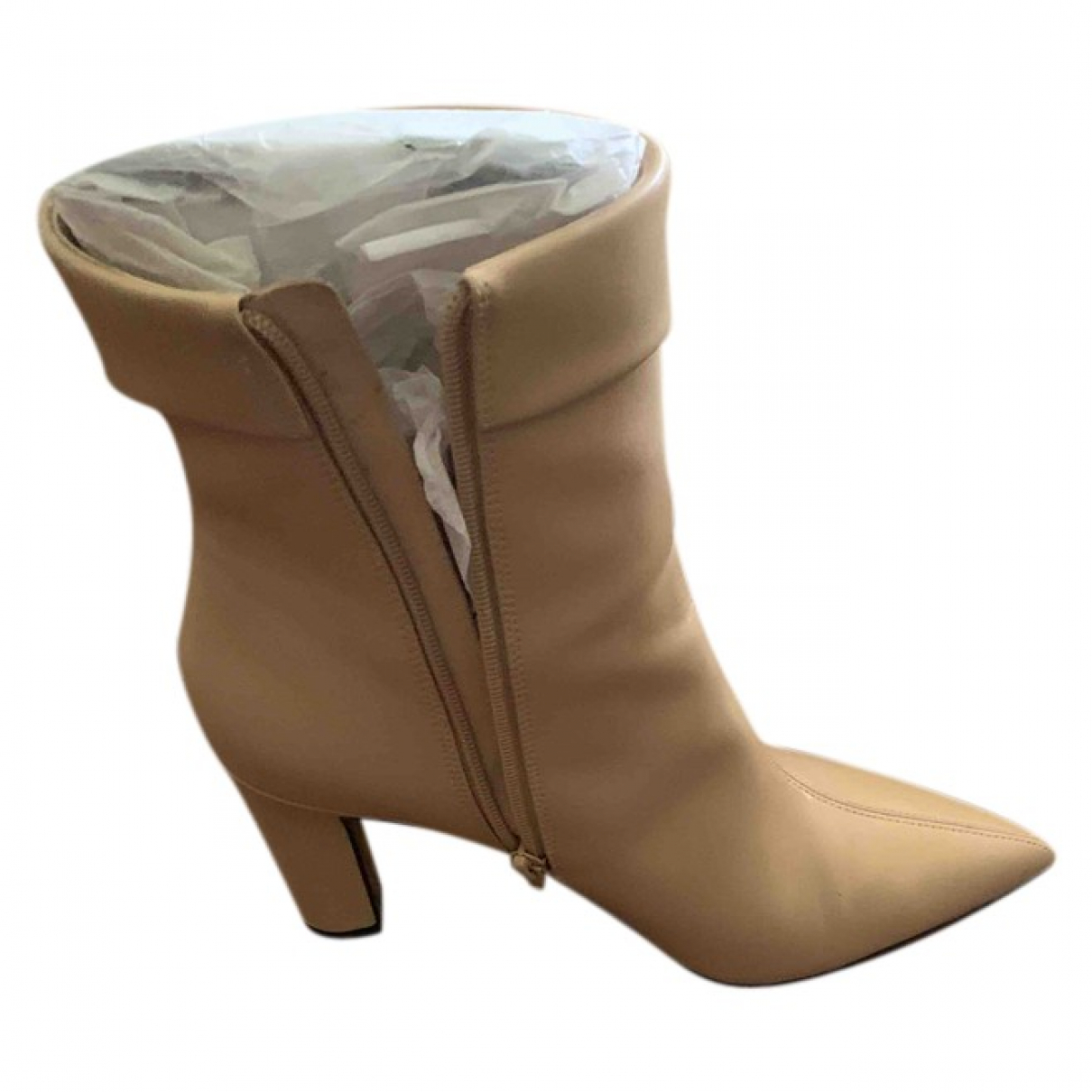 Charles & Keith \N Leather Boots for Women 39 EU