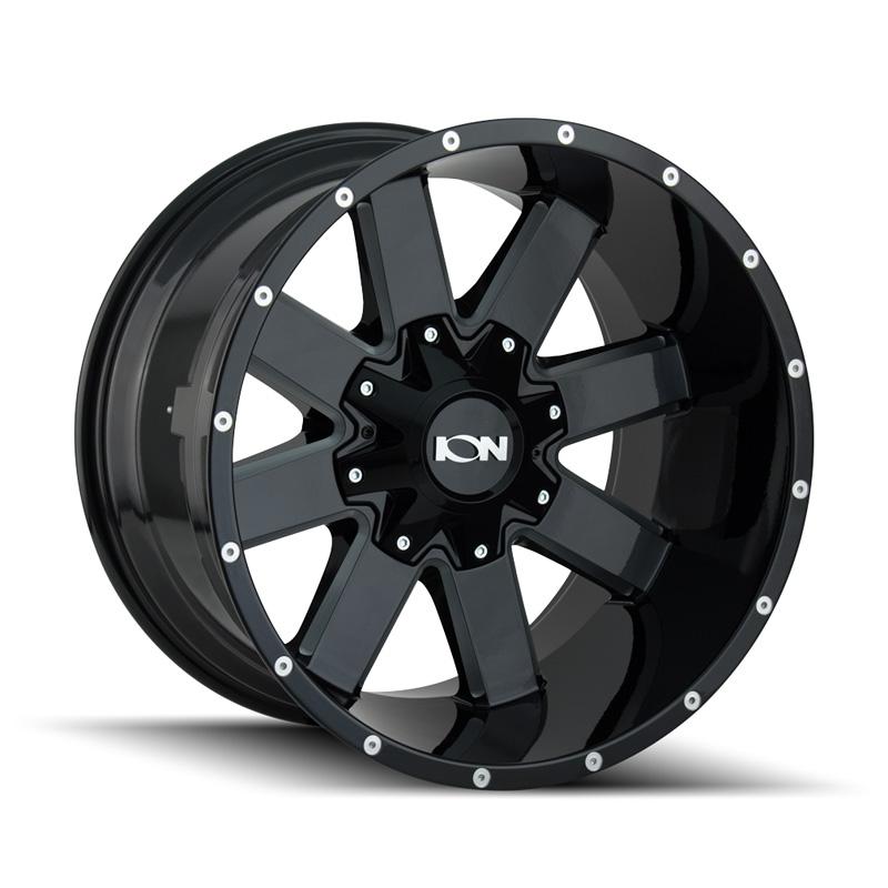 ION 141 Gloss Black | Milled Spokes 20x9 5x127 | 5x139.7 0mm 87mm Wheel