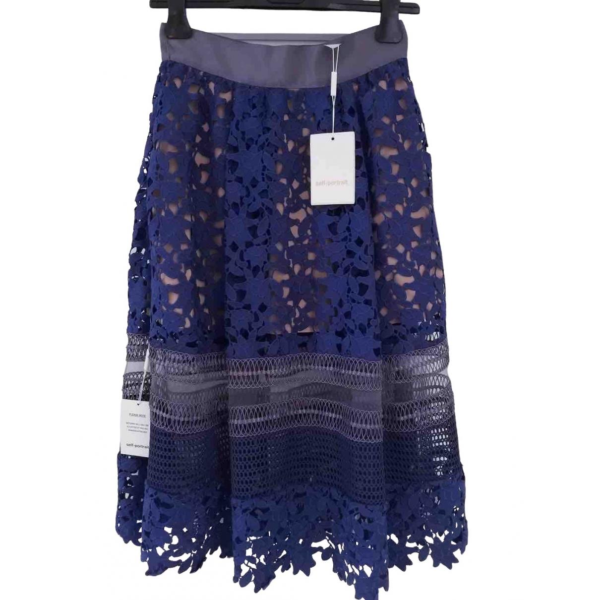 Self Portrait \N Blue skirt for Women 6 UK