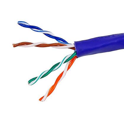 Cat5e 24AWG UTP câble en vrac solide, classé CMR, 1000pi - Monoprice® - violet