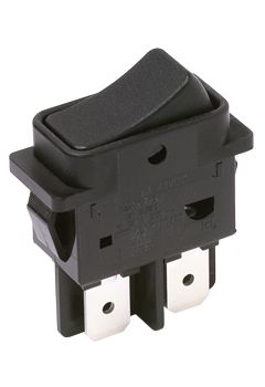 C & K Double Pole Single Throw (DPST), On-Off Rocker Switch Panel Mount (50)