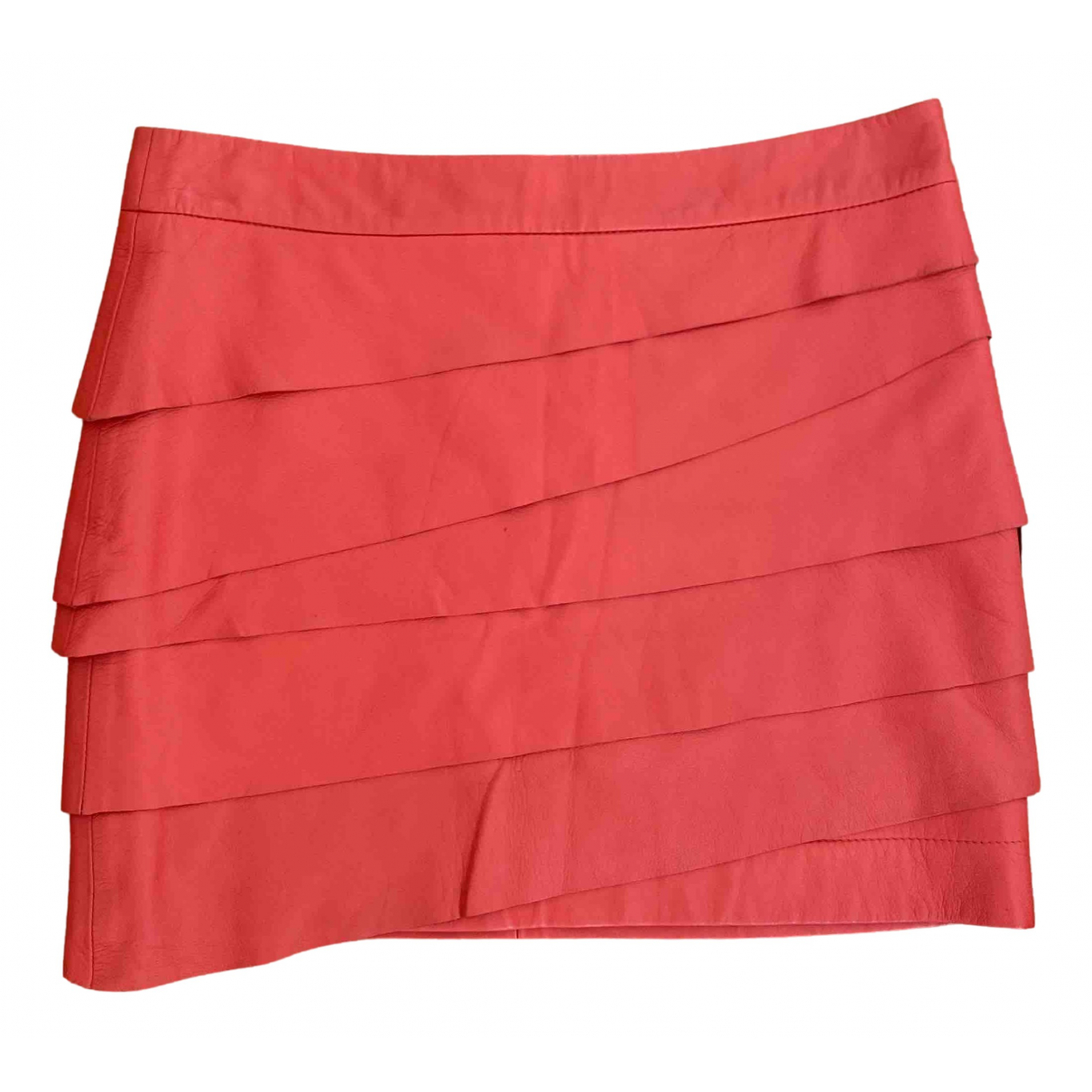 Mini falda de Cuero Ash