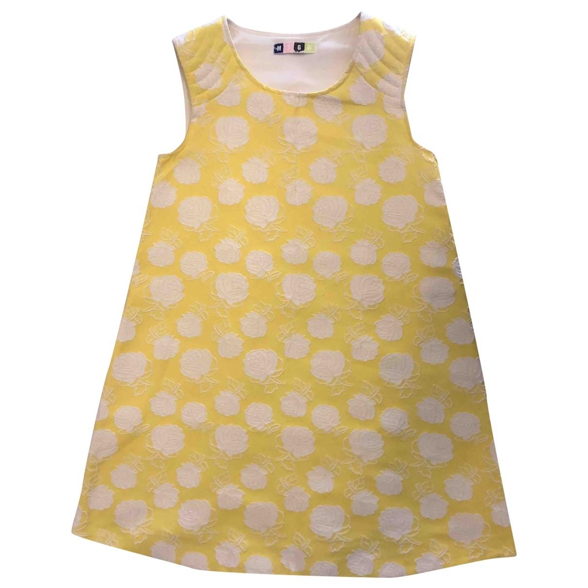 Msgm \N Kleid in  Gelb Baumwolle