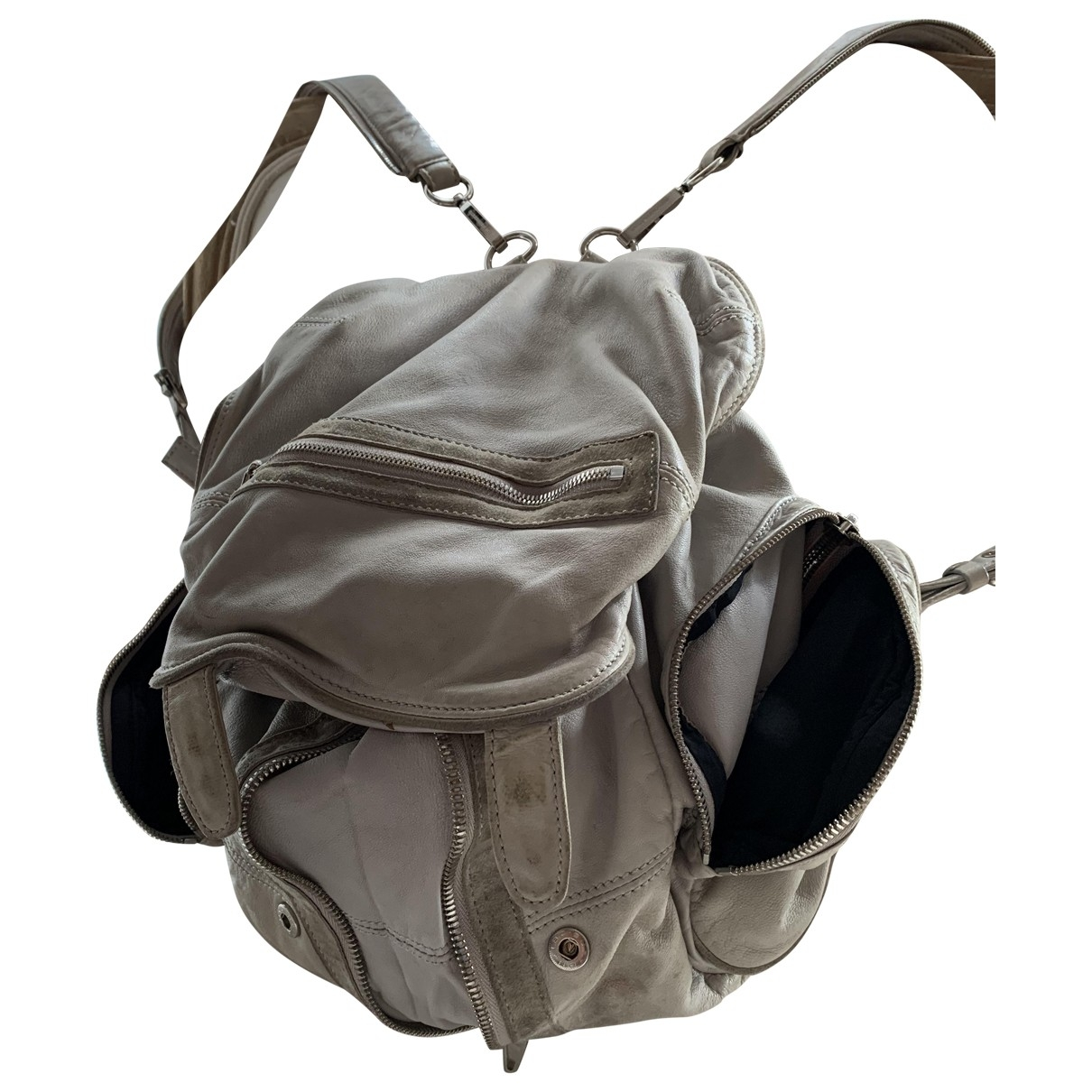 Alexander Wang Marti Grey Leather backpack for Women \N