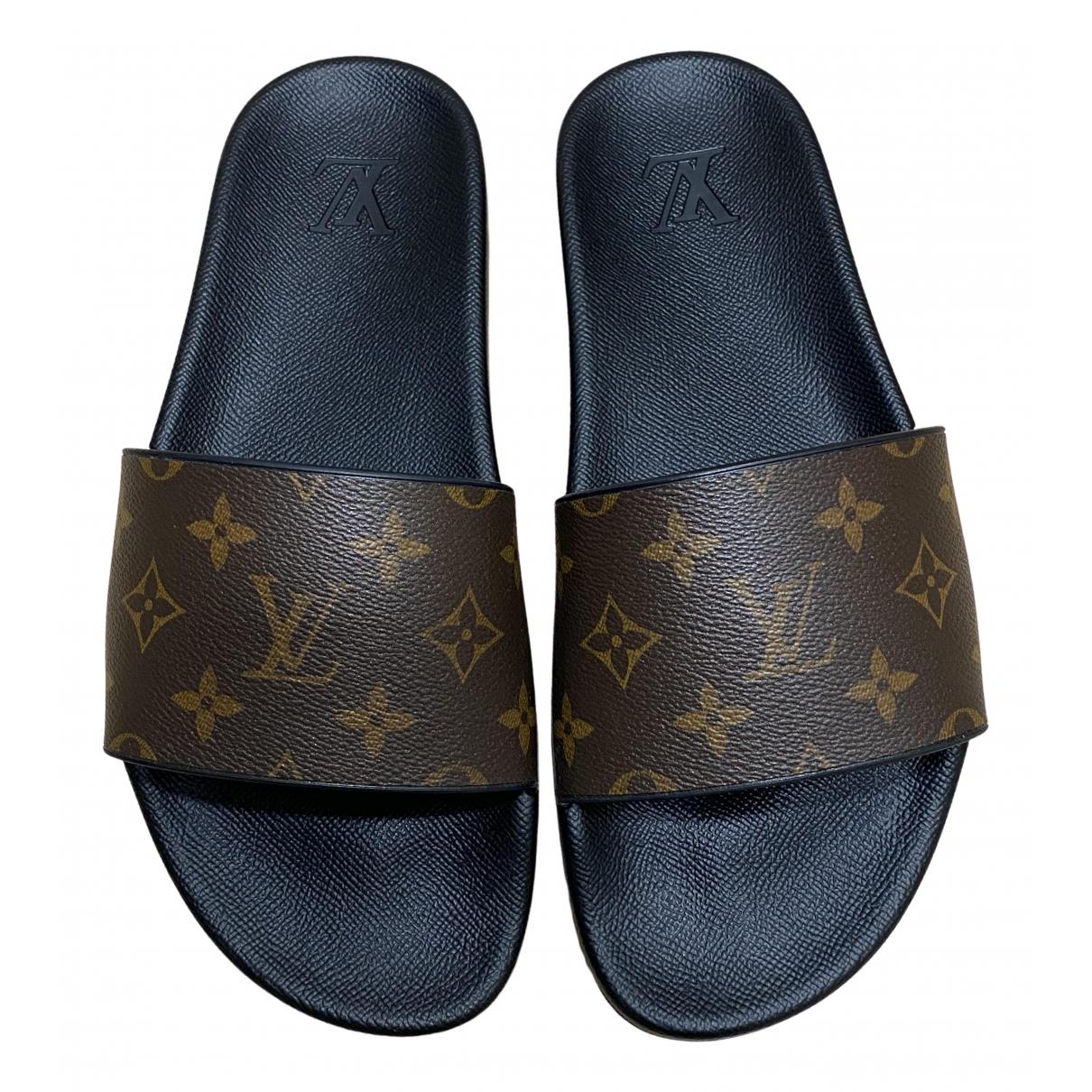 Louis Vuitton - Sandales   pour homme en caoutchouc - marron