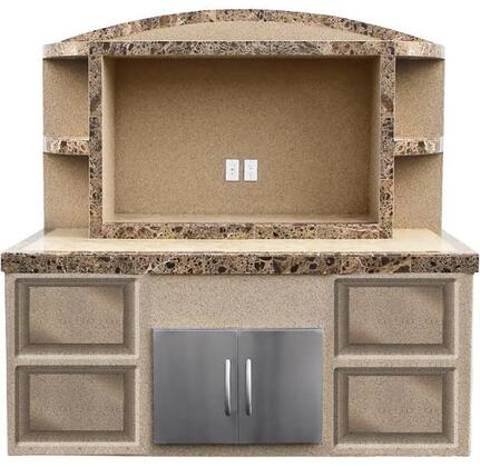 ODC-2 84 Outdoor Entertainment Center with 30 Double Access Door  Under Counter Light  Outdoor Electrical  HDMI Electrical  Top and Base Built in