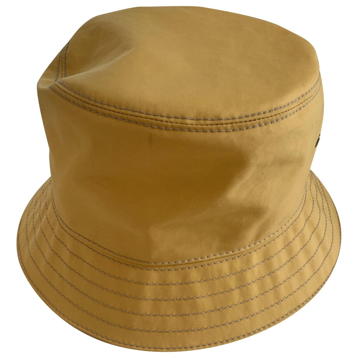 Prada - Chapeau   pour femme en coton - jaune