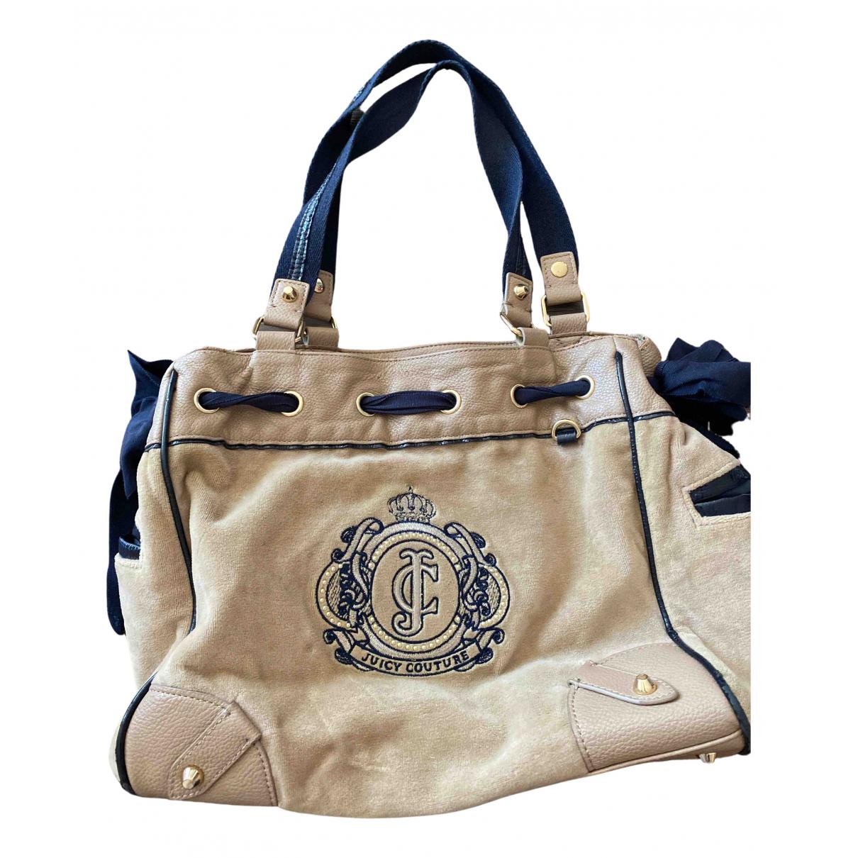 Juicy Couture \N Handtasche in  Beige Samt