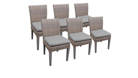 Florence Collection FLORENCE-TKC290b-ADC-3x-C-GREY 6 Side Chairs - 2 Sets of Grey