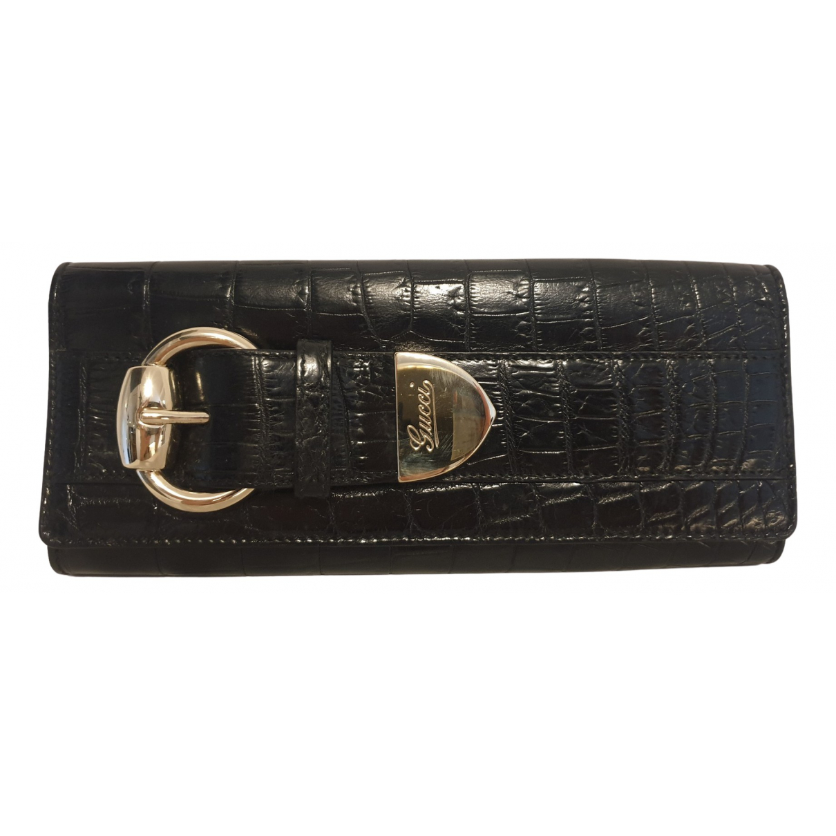 Gucci N Black Crocodile Clutch bag for Women N