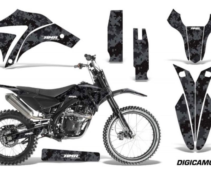 AMR Racing Dirt Bike Graphics Kit Decal Sticker Wrap For Apollo Orion 250RXáDIGICAMO BLACK