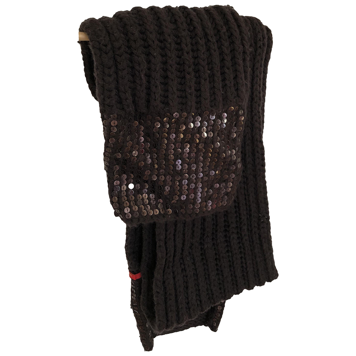 Esprit - Foulard   pour femme en a paillettes - marron