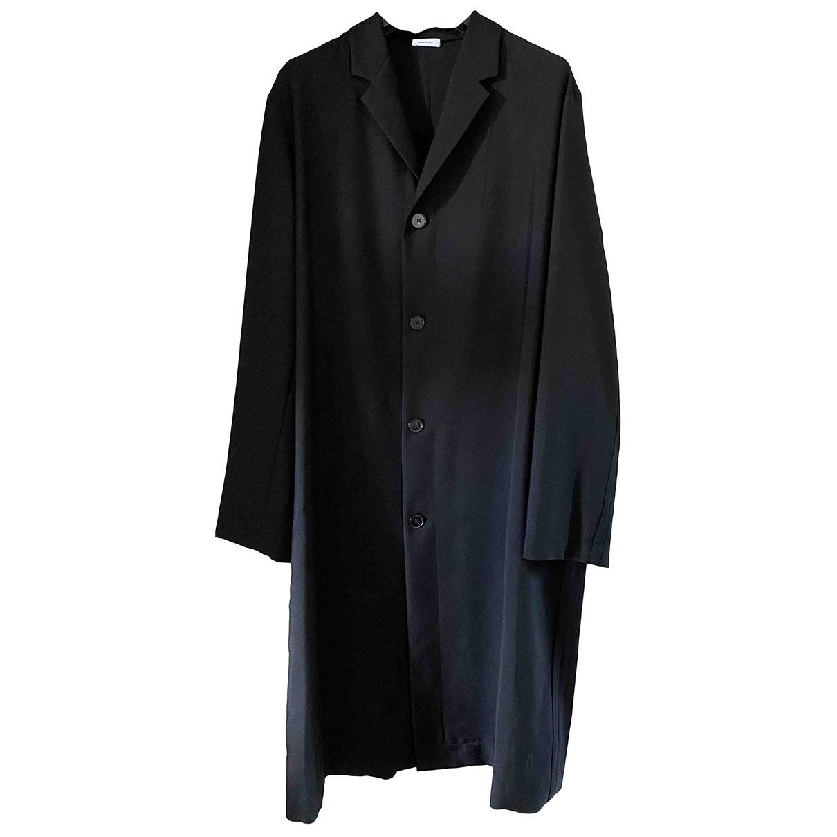 Jil Sander - Manteau   pour homme en laine - noir