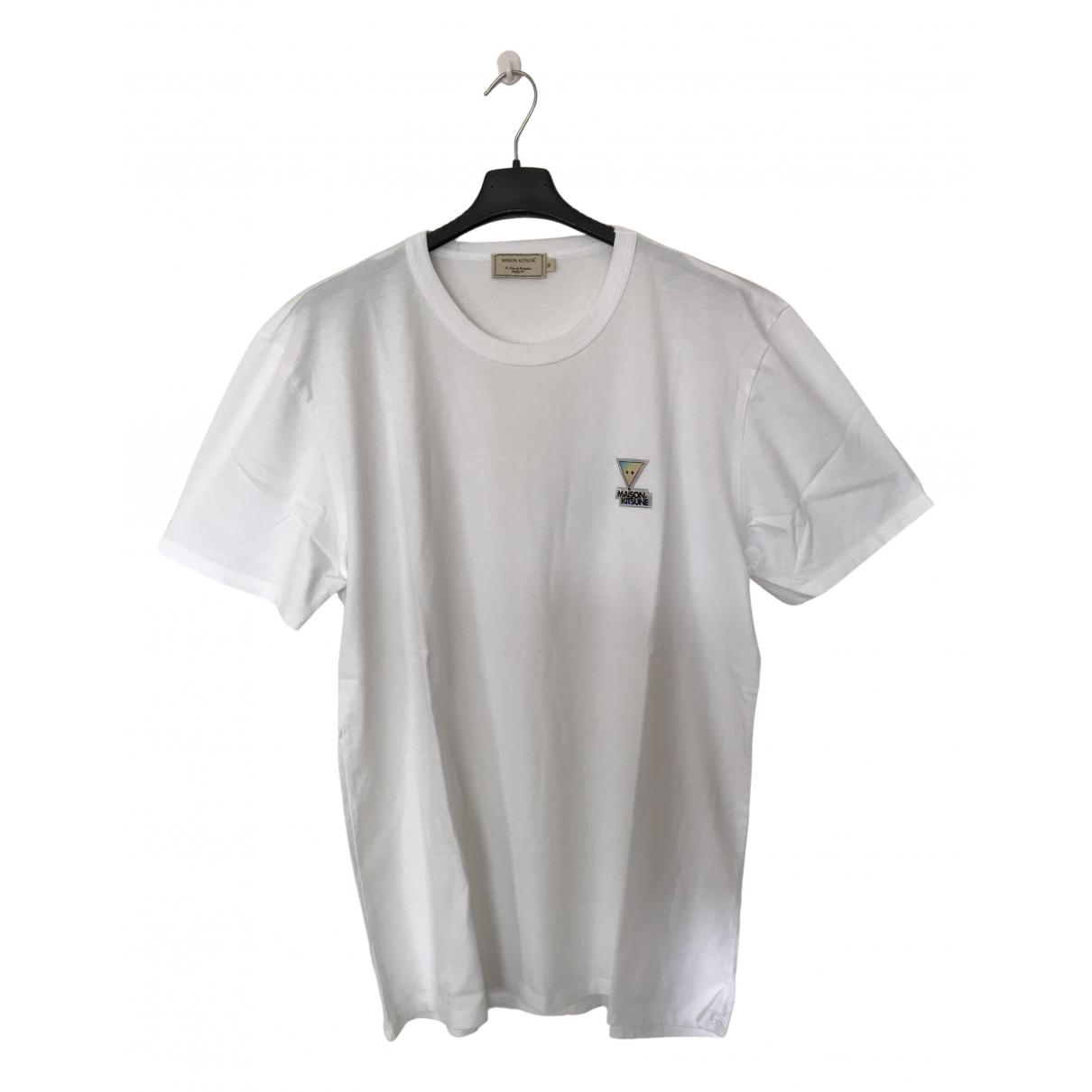 Maison Kitsune - Tee shirts   pour homme en coton - blanc