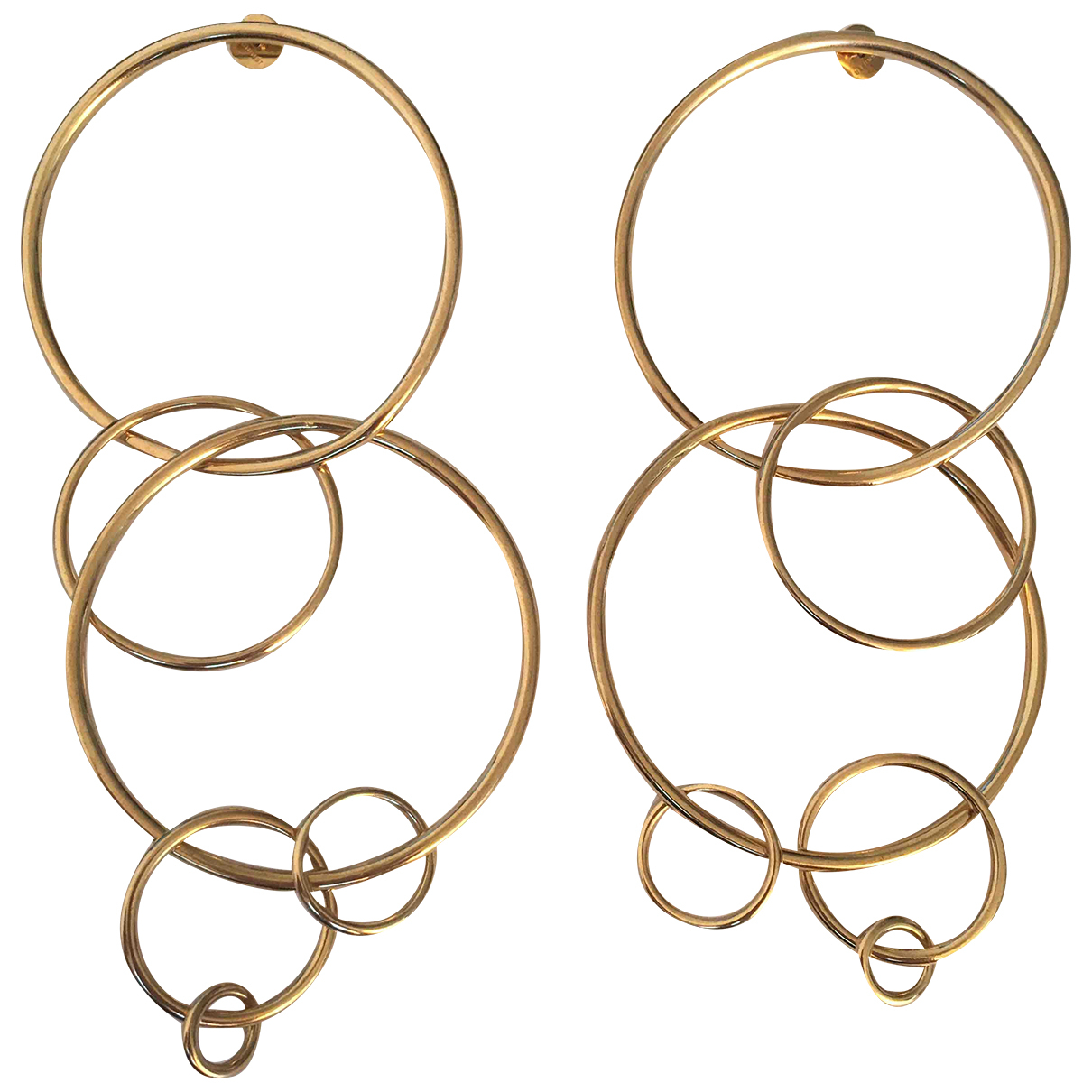 Jennifer Fisher \N OhrRing in  Gold Metall