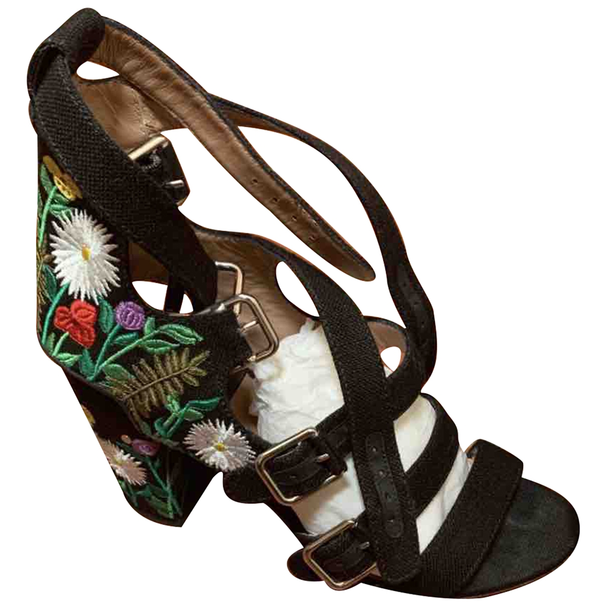 Laurence Dacade \N Black Cloth Sandals for Women 40 IT