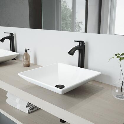 VGT1148 Hibiscus Matte Stone Vessel Bathroom Sink Set With Linus Vessel Faucet In Matte