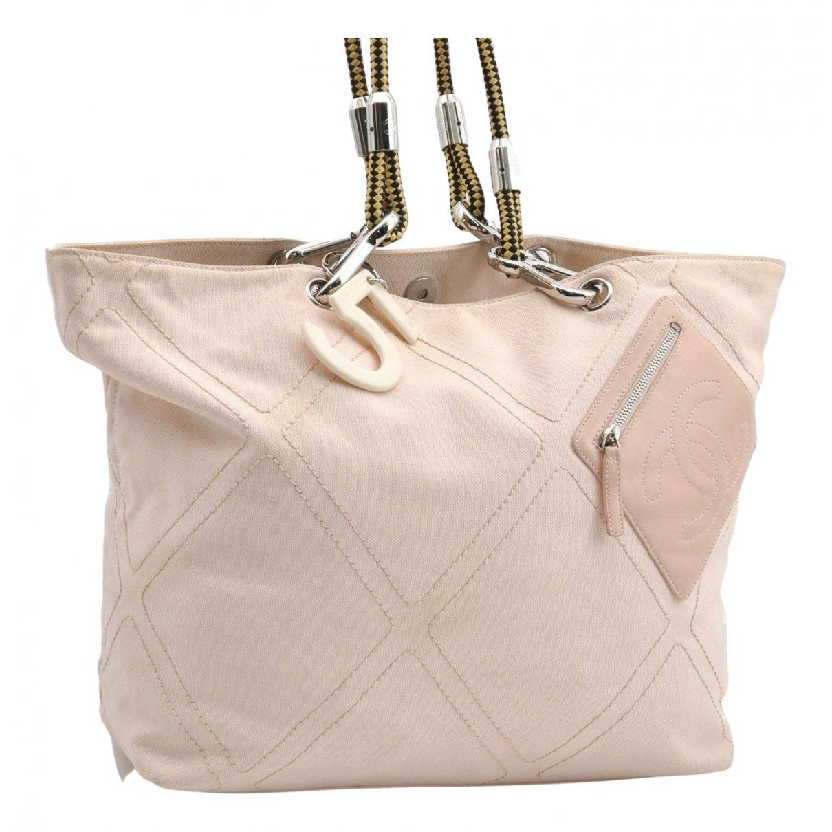 Chanel N Pink Cloth handbag for Women N
