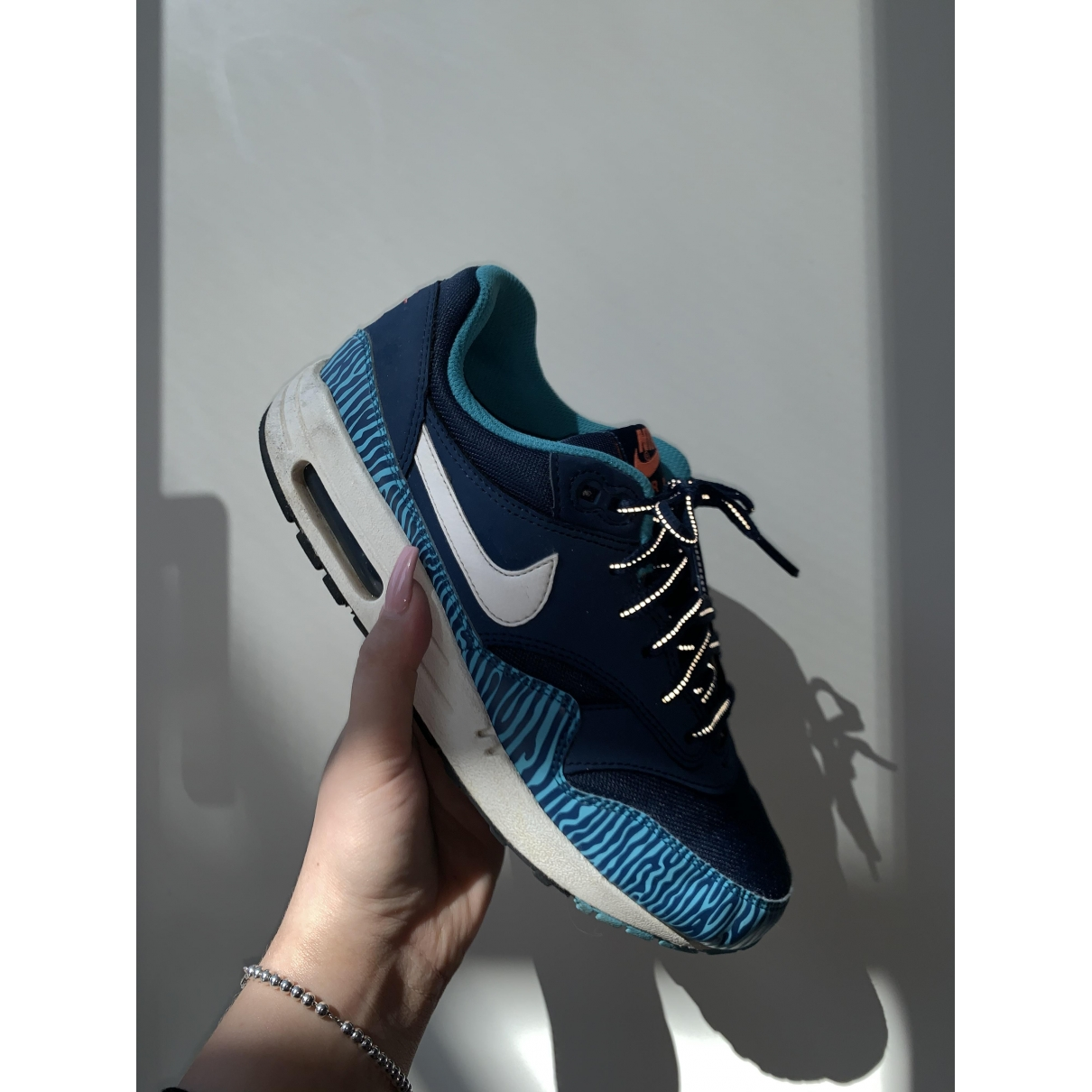 Nike Air Max 1 Blue Trainers for Women 38.5 EU