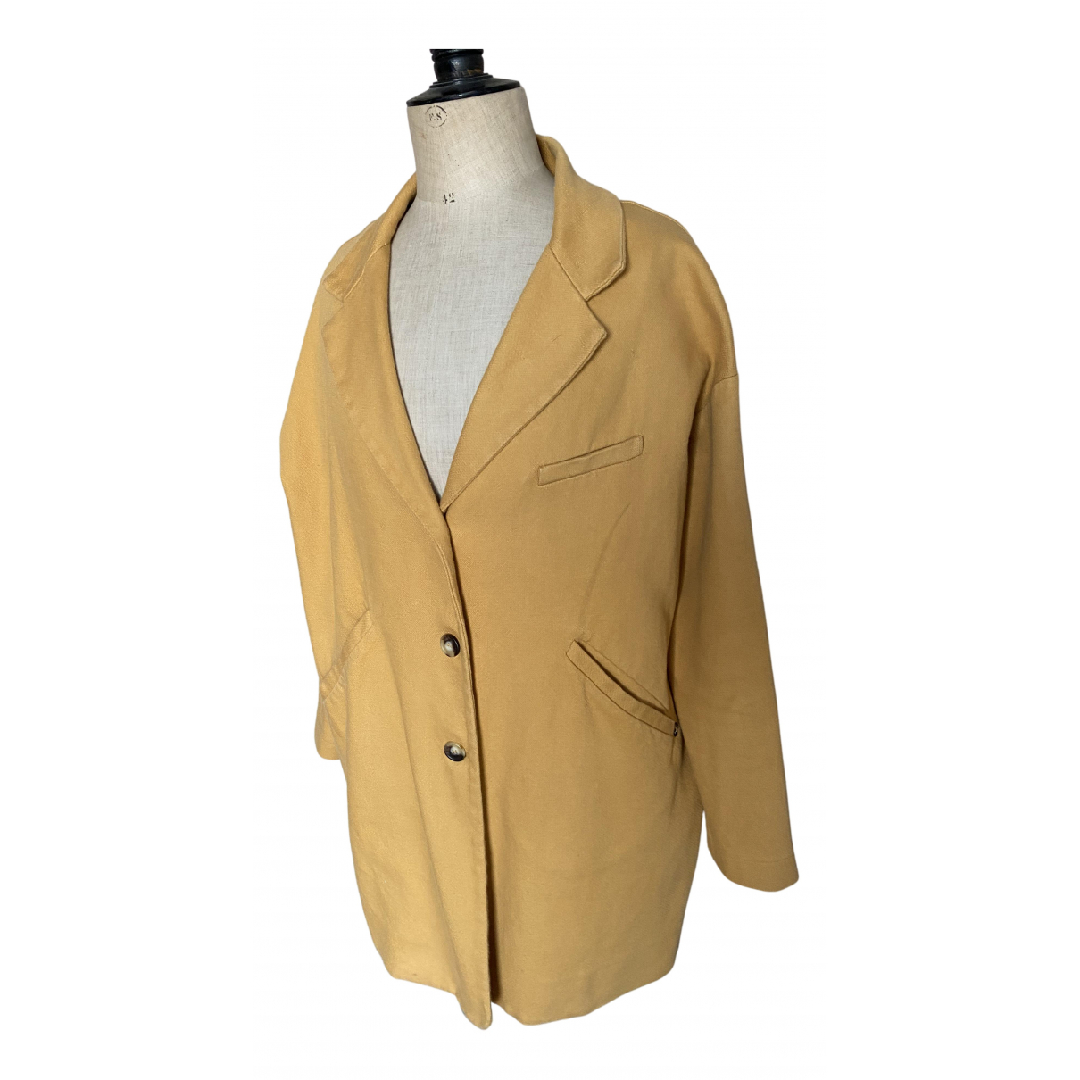 Ottod'ame N Yellow Cotton coat for Women 40 FR