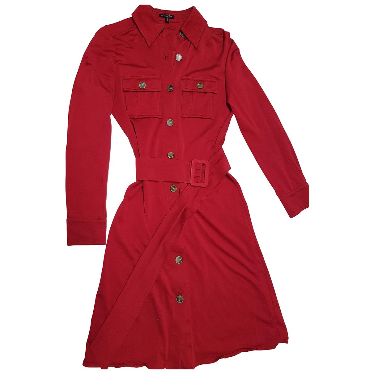Massimo Dutti \N Red Cotton - elasthane dress for Women 32 FR