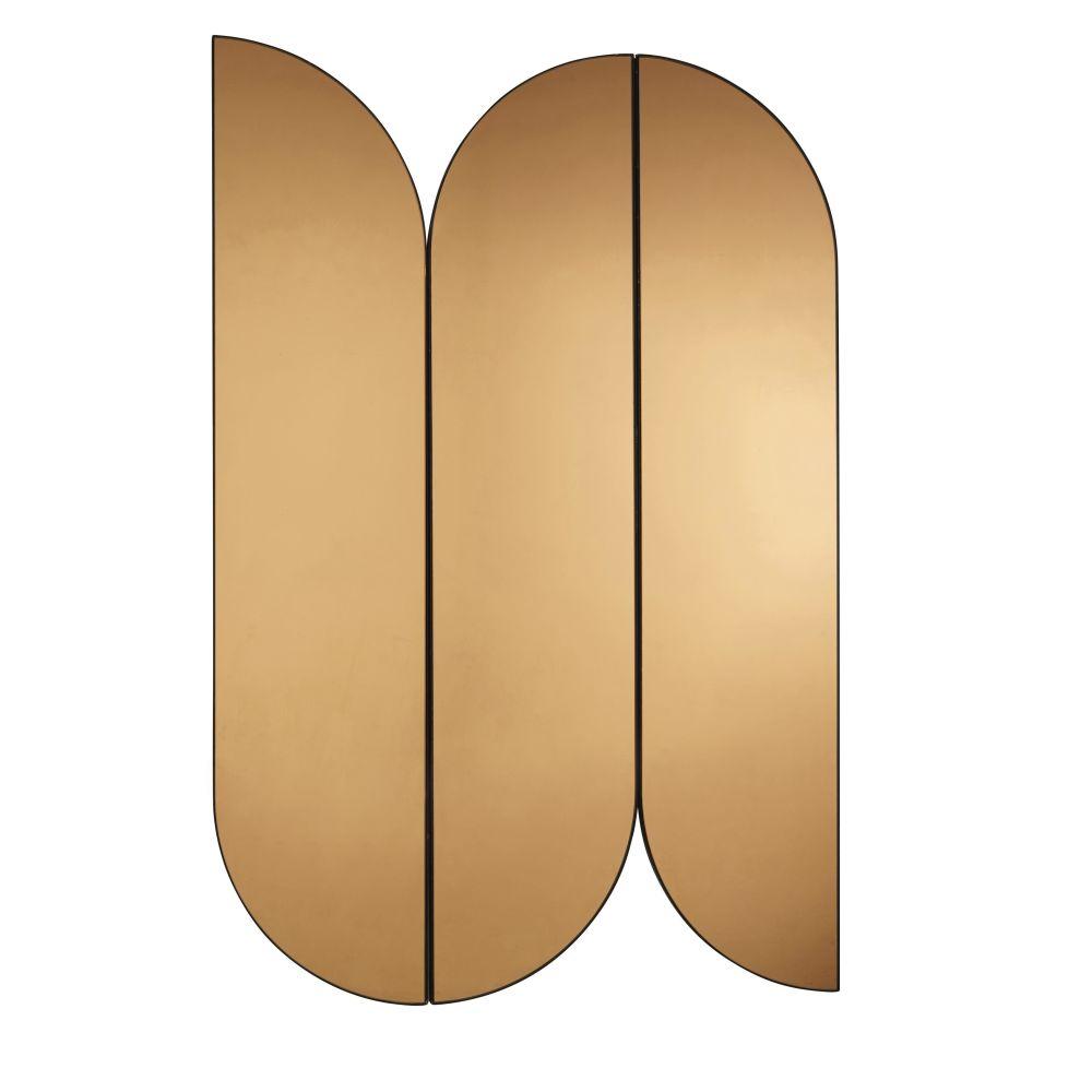 Spiegel aus verkupfertem Metall 81x122 (x3)