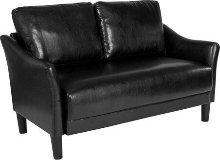 SL-SF915-2-BLK-GG Asti Upholstered Loveseat in Black