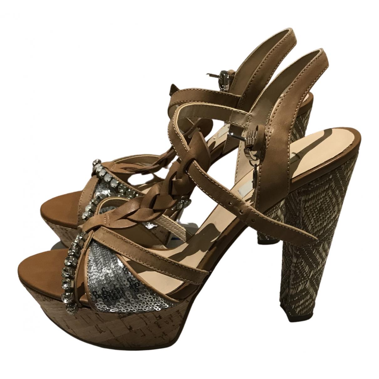 Guess N Camel Glitter Sandals for Women 37 EU