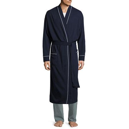 Stafford Waffle Robe-Big, One Size , Blue