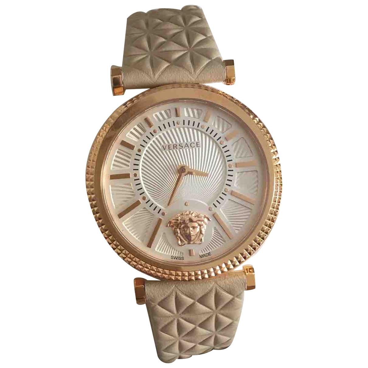 Versace \N Uhr in  Beige Stahl