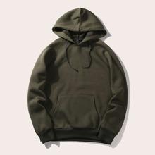 Guys Solid Hooded Sweatshirt