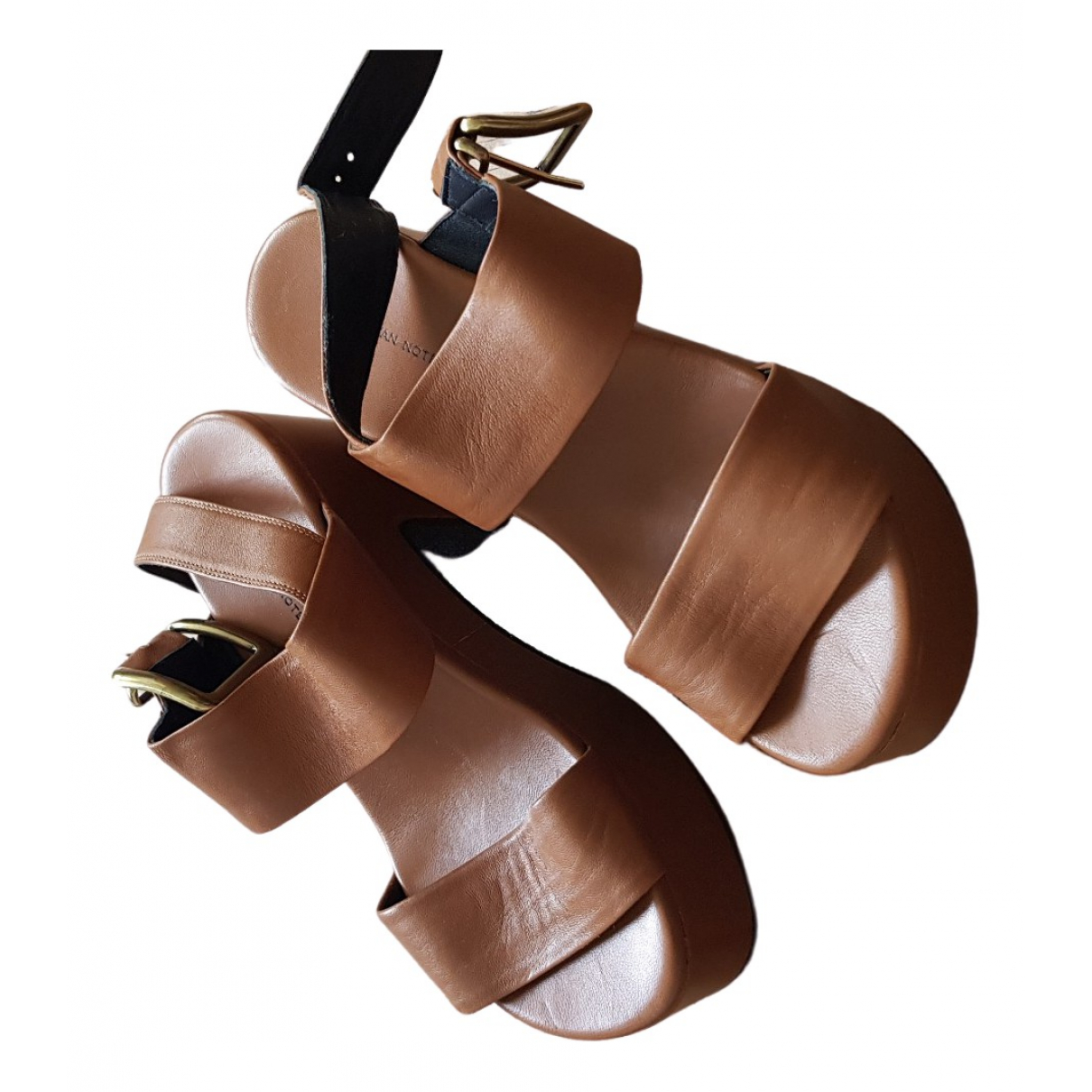 Dries Van Noten \N Camel Leather Sandals for Women 37 EU