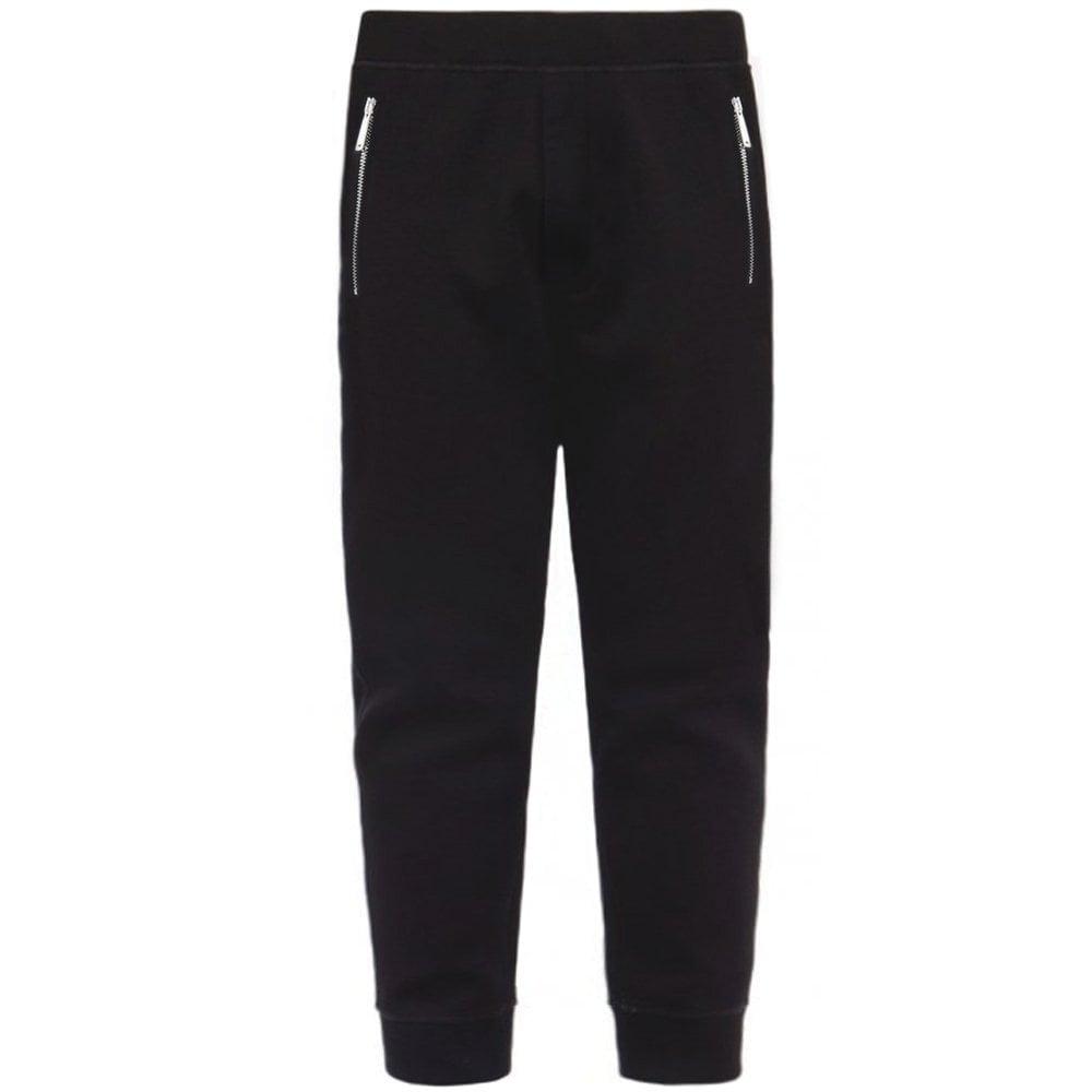 DSquared2 Classic Zipped Neoprene Joggers Colour: BLACK, Size: MEDIUM