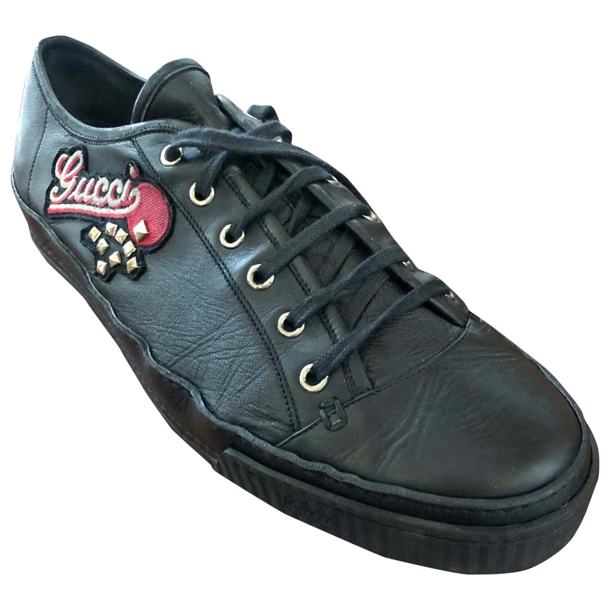 Gucci \N Black Leather Trainers for Men 10.5 UK