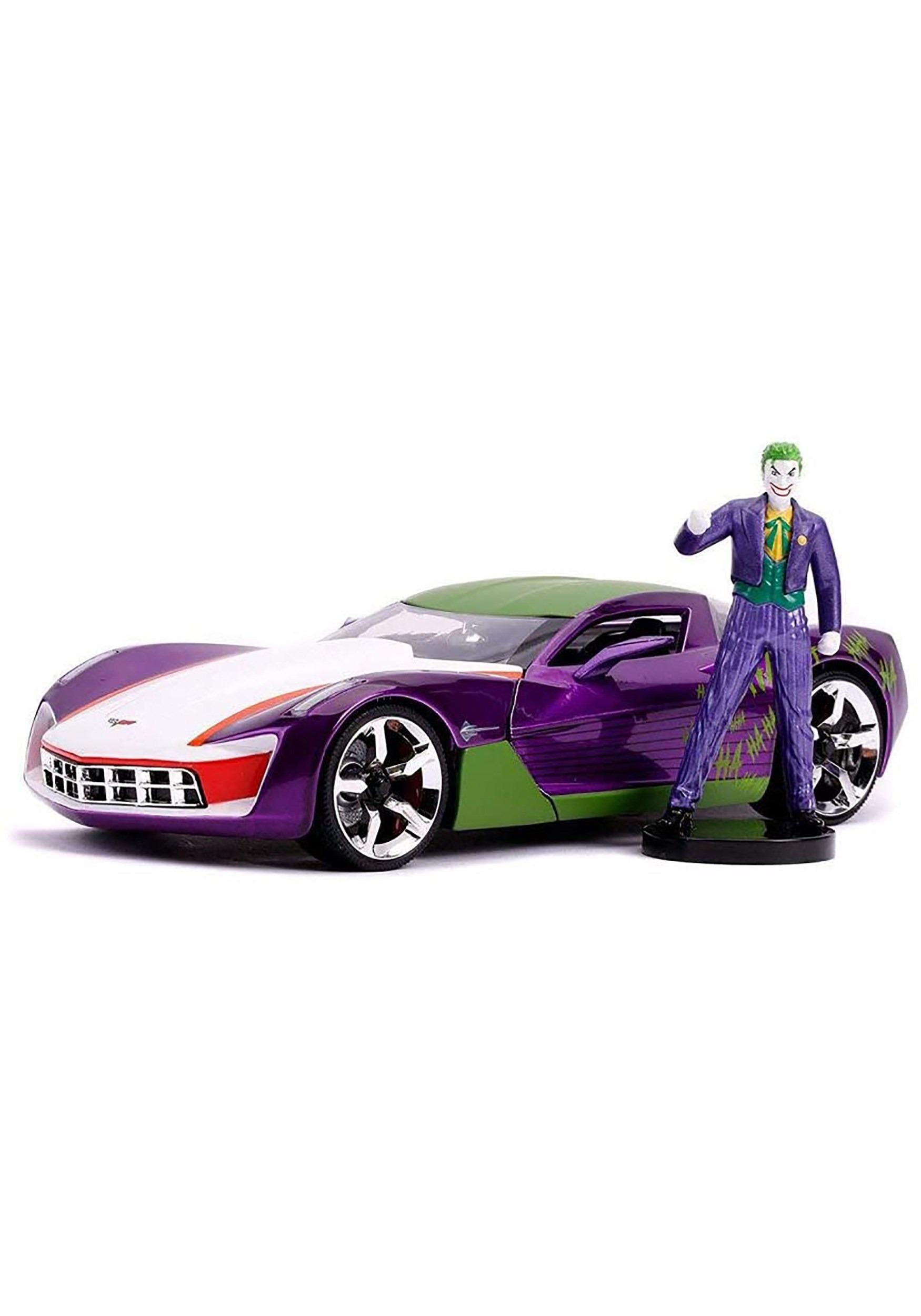 2009 Chevy Corvette Stingray w/ Joker 1:24 Scale Die Cast Car