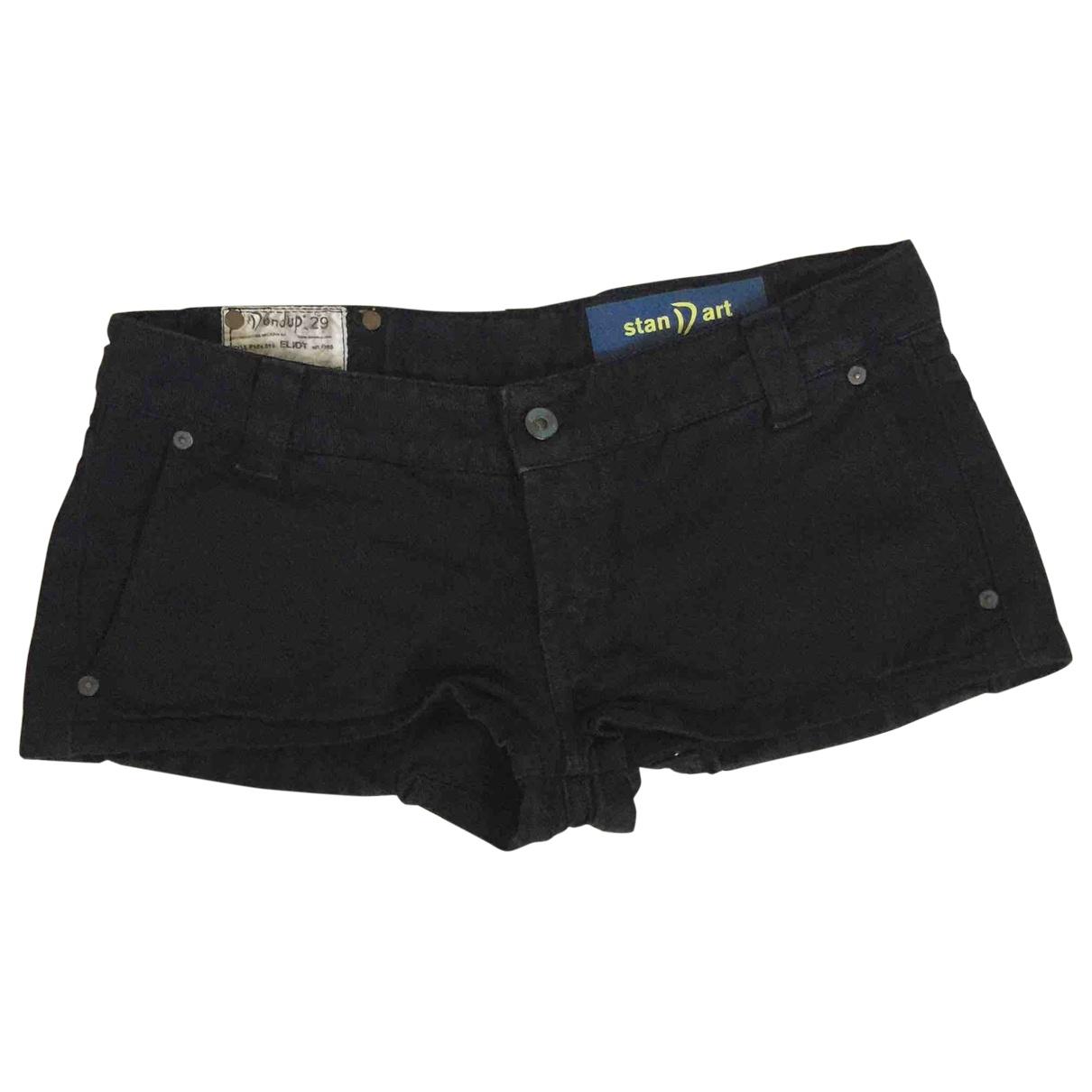Dondup \N Black Cotton Shorts for Women 44 IT