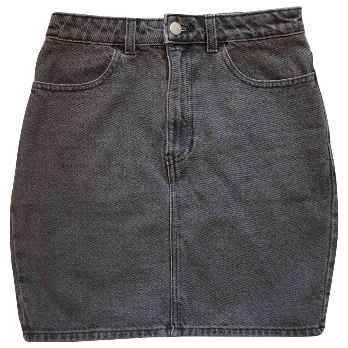 American Apparel \N Rocke in  Grau Denim - Jeans