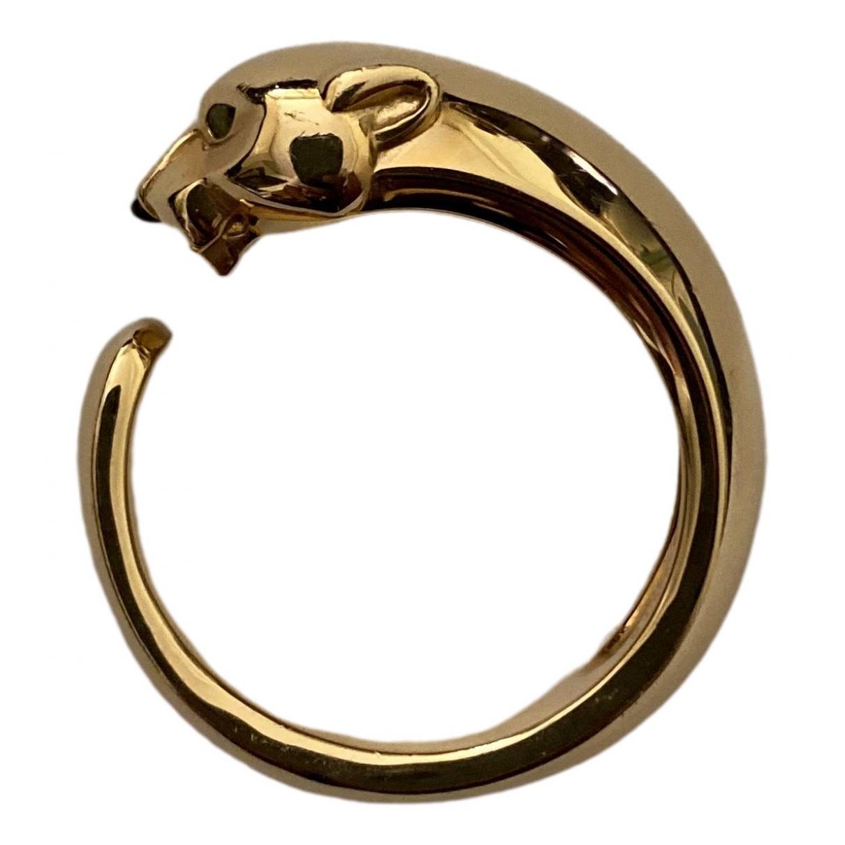 Cartier - Bague Panthere pour femme en or jaune - jaune