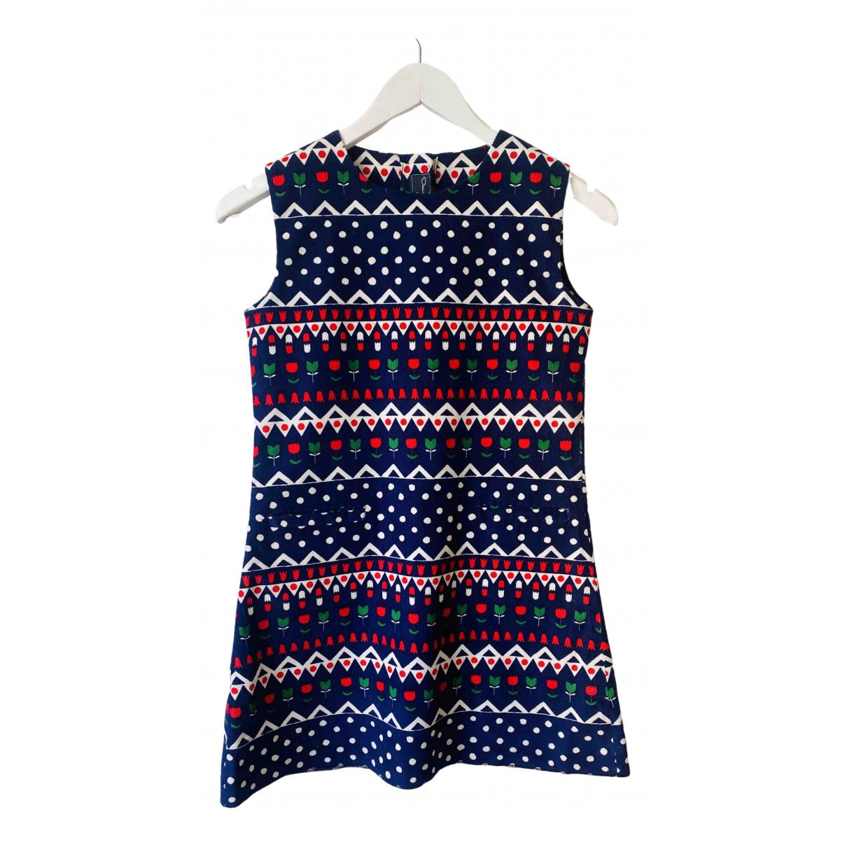 Oscar De La Renta \N Kleid in  Blau Baumwolle