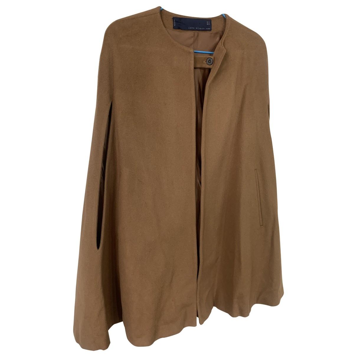 Zara - Manteau   pour femme en laine - camel